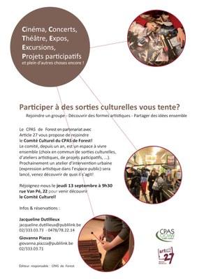 Comité Culturel 13 septembre Flyers